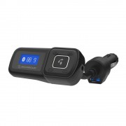 Dispozitiv Handsfree si Transmitator Radio pentru masina BTFreq (Negru)