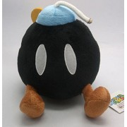 "Super Mario Bros Plush 7.5"" / 19cm Bob-Omb Bomb Black Doll Stuffed Animals Figure Soft Anime Collection Toy"
