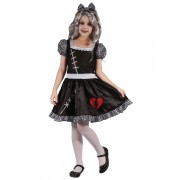 Vegaoo.es Disfraz muñeca corazón partido niña - XS 3-4 años (92-104 cm)