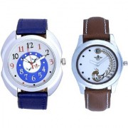 Exclusive Blue Round Dial And Brown Peacock Couple Casual SCK Analogue Watch By Google Hub