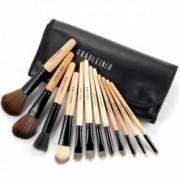 Set 12 pensule machiaj Cosmetic Par Natural-Sintetic Make-up Profesional