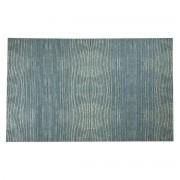 Miliboo Tapis bleu gris acrylique-coton 155x230 SNAKE