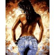 Gaira Malování podle čísel Dívka v džínách M1551
