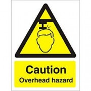 Unbranded Warning Sign Overhead Hazard Vinyl 30 x 20 cm