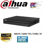 DVR 16 canale Pentabrid Full HD compresie video H.265, Dahua XVR5116HS-X, HDCVI, AHD, TVI, CVBS + 8 canale IP pana la 6MP