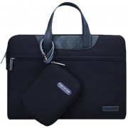 12 Pulgadas Portatil De Mano Cartinoe Business Series Exquisito Cremallera Bolsa De Ordenador Portatil Con Paquete De Potencia Independiente Para Macbook, Lenovo Y Otros Laptops, Internal Size: 28.0x17.0x3.0cm (negro)