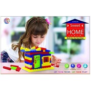 Toyztrend Sweet Home Junior Colorful Interlocking Blocks For Kids Ages 3+ to Build Their Own Sweet Home
