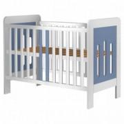 Patut Copii din Lemn 120x60 cm Sophie Fun Life - White-Blue