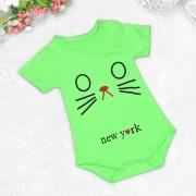 Detské body mačka zelená