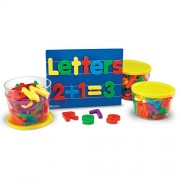 Jumbo Magnetic Letters and Numbers Set includes 40 uppercase letters 40 lowercase letters and 36 numbers and operations