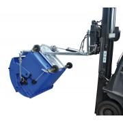 Hulladéktároló konténer döntő - ürítő targonca adapter 1100 literes DIN EN 840-3 szerinti műanyag konténerhez Hidraulikus döntés. horganyzott kivitel