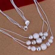 Colier placat argint elegant cu bilute