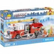 Set de construit masina de pompieri 300 piese - Cobi