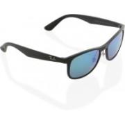 Ray-Ban Retro Square Sunglasses(Blue)