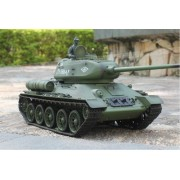 2.4 Ghz 1/16 Scale Radio Remote Control Russian T 34/85 Rc Air Soft Rc Battle Tank Smoke & Sound