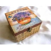 Cutie din lemn -lavanda - 26368