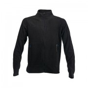 Didriksons Monte Zipped Microfleece Unisex Sweater Black 574051