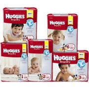 Baby Diaper Huggies Snug Dry Tab Closure Size 1 Disposable Heavy Absorbency Qty 176