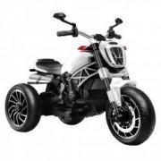 Motocicleta electrica copii cu 3 roti Premier Retro alba