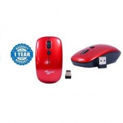 Multybyte Wireless Optical Sleek Mouse shape MMPL W-1 For Dell (Red Color) Combo