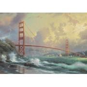 Puzzle Schmidt - Thomas Kinkade: Podul Golden Gate, 1.000 piese, cutie metalica (59802)