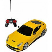 Remote Control Rechargeble with 3D Lighting Effect 4 Fuction with Charger Car (yellow) By Bgc