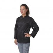 Whites Chefs Clothing Whites Vegas Unisex Chef Jacket Long Sleeve Black - XS Size: XS