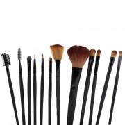 Pensule Make-up Set 12 Buc Negru