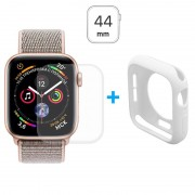 Conjunto de Protecção Hat Prince para Apple Watch Series 4 - 44mm - Branco