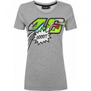 VR46 Pop Art T-shirt donna Grigio XS