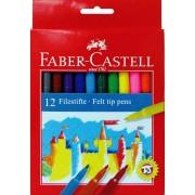 Carioci, 12 culori/set, FABER CASTELL Jumbo
