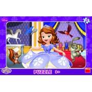 Puzzle pentru copii Printesa Sofia, 15 piese, 3-4 ani