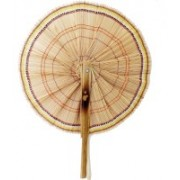 FolksHandcrafts Foldable Solid Brown Hand Fan(Pack of 1)