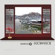 Sticker perete Chinese Garden 3D 60 x 90 cm