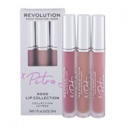 Makeup Revolution London X Petra XOXO Lip Collection tonalità Mauve Madness confezione regalo rossetto liquido 3 ml + rossetto liquido 3 ml Lip Filler + gloss labbra 3 ml Perfect Nude donna