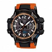 casio g-shock GPW-1000-4A con energia solar 200 metros resistencia al agua serie gravitymaster reloj deportivo para hombres - negro + naranja