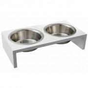 FLAMINGO Double Feeding Bowl Kobushi White 2x380 ml 1031110