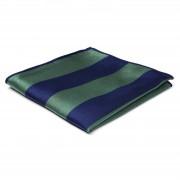 TND Basics Pochette de costume en soie à rayures vertes et bleues