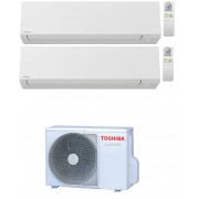 Toshiba Shorai Edge Wifi R32 Condizionatore Dual Split Inverter 7000+9000 7+9 Btu Ras-2m14u2avg-E A++