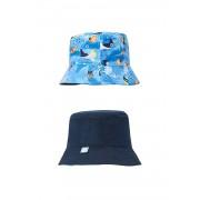 Kétoldalas fiú kalap kék 46