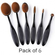 Trendster Imported Beauty Professional 6Pcs Oval Makeup Brush Kit Makeup Brushes