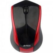 Мишка Жична V-Track PADLESS мишка N-400-2, черна с червено ,3бут; USB, - A4-MOUSE-N-400-2