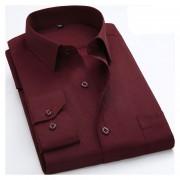Camisas De Hombre De Negocios De No Plancha De Raya -Rojo