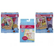 Baby Alive Accessories Bundle of 3 Items - 1 Super Snacks Noodles & Pizza Snack Pack (Blonde), 1 Super Snacks Treat Time Snack Pack (Blonde) and 1 Diapers Pack.