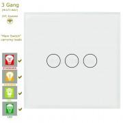 Сензорен ключ за осветление с WiFi контрол – 3 бутона (3 цвята)