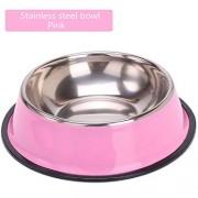 N/AA Pet Bowl Stainless Steel Dog Bowl Dog Bowl Cat Bowl Dog Food Bowl Number 5/Pink