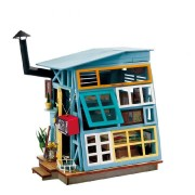 Robotime DG-M03 DIY Doll House Miniature With Furniture Wooden Dollhouse Toy Decor Craft Gift