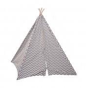 Childhome Tipi Tent Zigzag Grijs