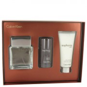 Calvin Klein Euphoria EDT Spray 3.4oz/100.55mL + After Shave Balm 3.4oz/100.55mL + Deodorant 2.6oz/76.89mL Gift Set 515680