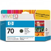 HP 70 130 ml Matte Black Ink Cartridge with Vivera Ink, HP Designjet Z2100, Z3100 - C9448A